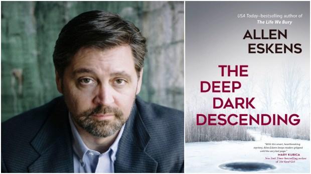 "Minnesota author Allen Eskens with his latest Max Rupert novel, ""The Deep Dark Descending."""