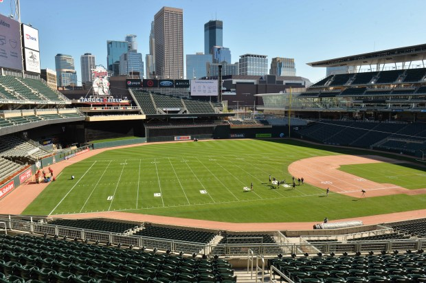 Here S How Target Field Was Morphed Into A Football Stadium