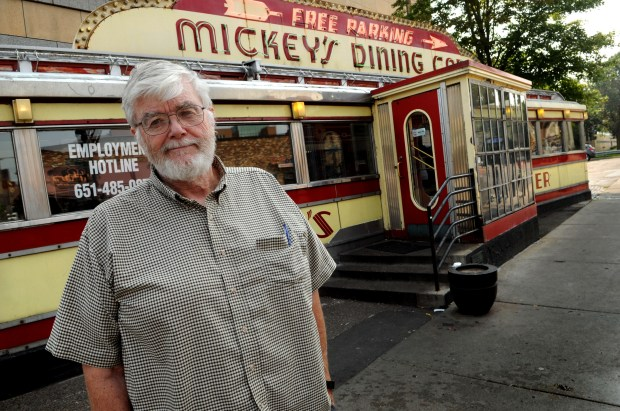 "Eric Mattson, owner of Mickey's Dining Car in downtown St. Paul, which is one of several St. Paul businesses that has been served a lawsuit by a private attorney saying that they are in violation of the Americans with Disabilities Act. The suit alleges ADA violations in the parking lot, bathroom and entryway. ""The attorney's fees make me want to throw up every morning,"" said Mattson, 75, whose family has owned Mickey's Dining Car in downtown St. Paul for 80 years. ""I would feel better if somebody came in with a gun. We've reached the point where we're literally deciding whether we want to do this anymore.""  (Ginger Pinson / Pioneer Press)"