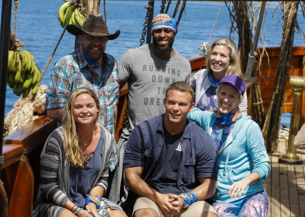 "Minnesota native Katrina Radke (bottom right) is competing on the current season of ""Survivor"" as a member of the heroes tribe. (Courtesy of CBS)"