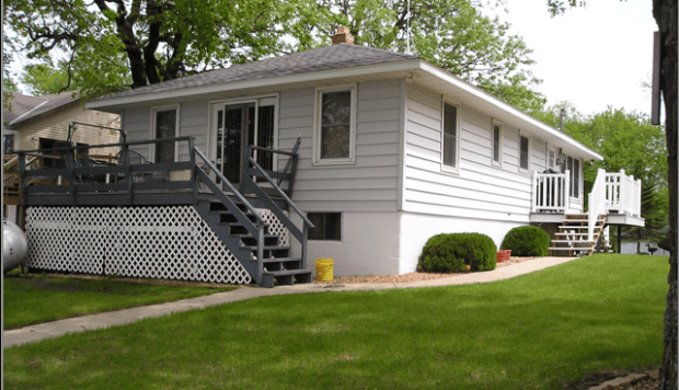 The house of Kathleen and Matt Mimbach before they began their renovation project at their property on Grand Lake in Rockville, Minn. (Courtesy Stearns County GIS)