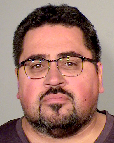 Robert Jon Peterson, 42, was arrested Thursday, Sept. 21, 2017, for allegedly sending threatening text messages to co-workers. (Courtesy of Ramsey County Sheriff's Office)