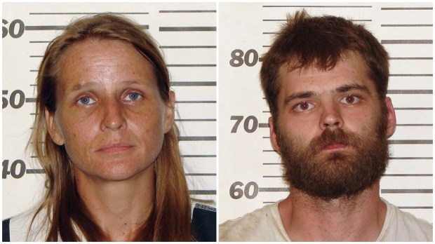 Rebecca Ruud, left, and Robert Peat Jr. (Ozark County Sheriff's Office via AP)