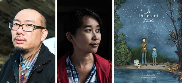 """Bao Phi, left, and Thi Bui wrote and illustrated """"A Different Pond."""""""