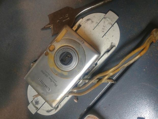 This digital camera sat at the bottom of Lake Superior for 11 years and was recovered in September 2017. Its owner was recently identified as Patrick Warker of Coeur d'Alene, Idaho. (Courtesy of Christian Dalbec)