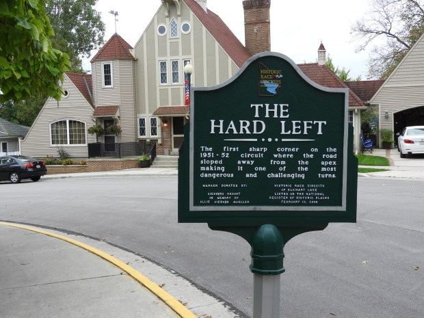 You can drive the streets of Elkhart Lake (at normal speeds of course) following informational signposts taking you past key landmarks, including Wackers Wend, the Marsh Turn and the Hard Left. (William M. Gurstelle)