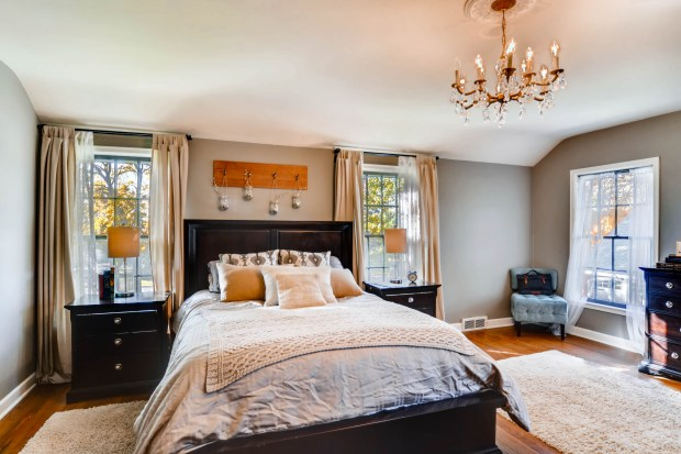 The master bedroom in the Cleveland Avenue house in St. Paul. (Shanna Allyn / Virtuance)