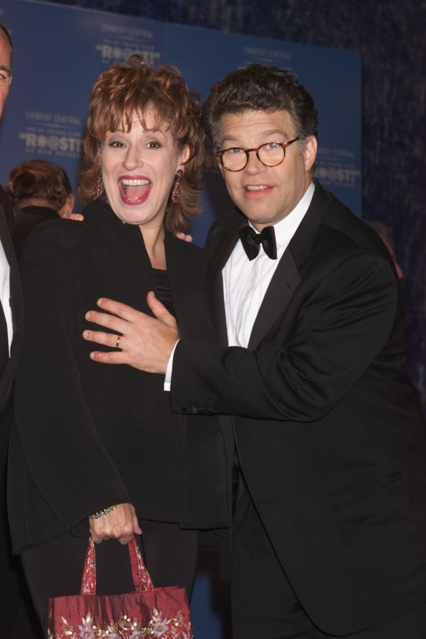 Joy Behar and Al Franken at the New York Friar's Club Roast of Rob Reiner. The roast was presented by Comedy Central. 10/06/2000 (Photo: Scott Gries/ImageDirect)