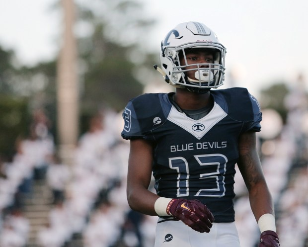 Rashod Bateman, a wide receiver commitment in the Gophers' 2018 recruiting class, has had a strong senior season for Tift County in Georgia. (Courtesy of Milla Reese)