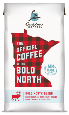 The Bold North slogan has made its way onto coffee bags. (Courtesy of Caribou Coffee)