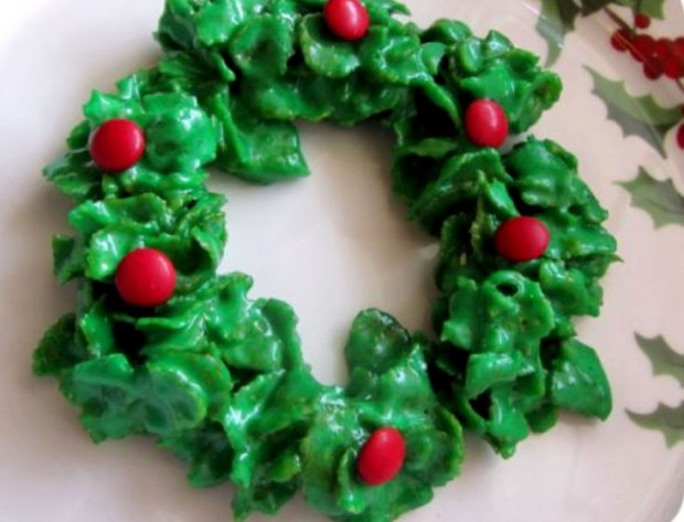 Cornflake Wreath Cookies. (Courtesy of Laura Fuschetto)
