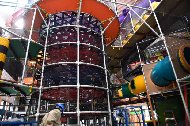 The new Eagles Nest Indoor Playground in New Brighton, photographed Nov. 2, 2017, features a higher and larger play area. (Scott Takushi / Pioneer Press)