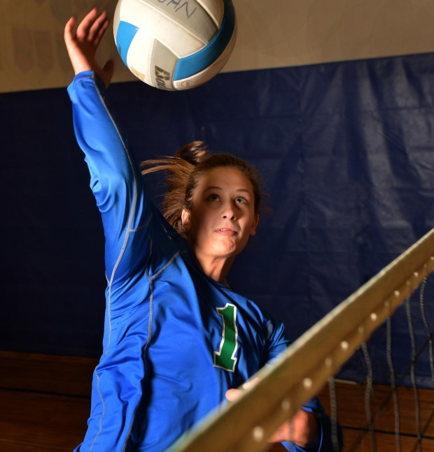 Eagan High School's senior outside hitter McKenna Melville is the Pioneer Press Player of the Year for volleyball, Nov. 6, 2017.  (Scott Takushi / Pioneer Press)