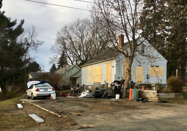 On Nov. 27, 2017, Gilbert Mancheski moved out of his house at 2494 Harvester Avenue in Maplewood. He sold the house to the city during the summer, but after finding out about a mortgage on the property, he refused to close on the sale. The city took him to court and won Nov. 13. (S. M. Chavey / Pioneer Press)
