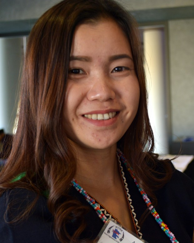 Paw Boh Htoo, 29, at the October 2017 annual gala for the Karen Organization of Minnesota, where she worked as a project coordinator. (Courtesy of the Karen Organization of Minnesota)