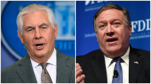 Rex Tillerson, left, and Mike Pompeo. (AP Photo/Manuel Balce Ceneta, AP Photo/Carolyn Kaster)