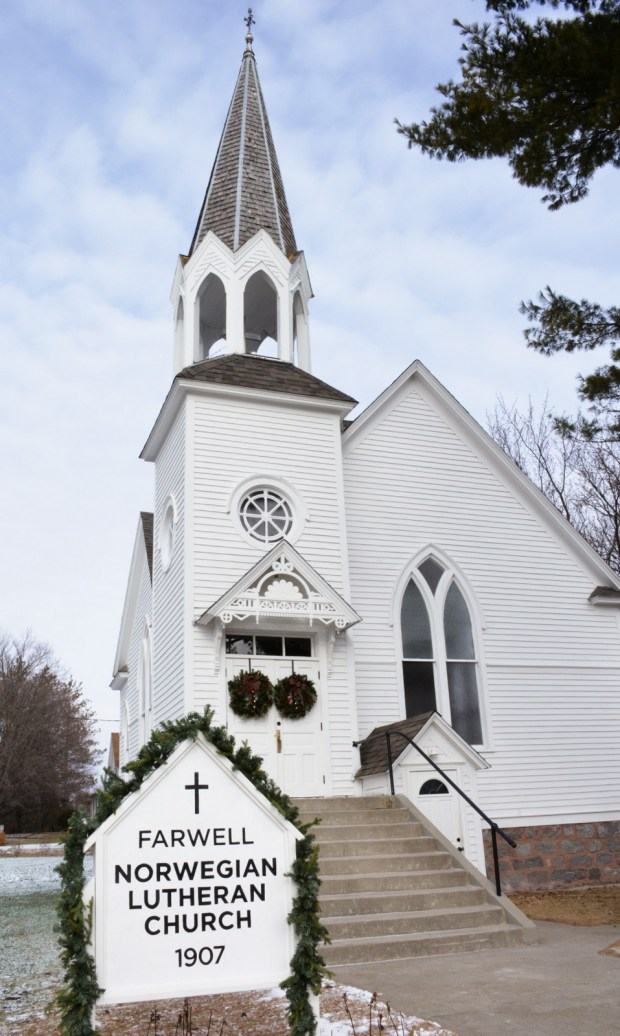 Farwell Norwegian Lutheran Church will open its doors to the public once again this weekend. An open house for the restored church is set for Saturday, Dec. 16 from 1-4 p.m. (Karen Tolkkinen / Echo Press)