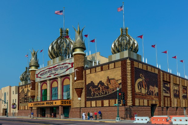 World's Only Corn Palace, Mitchell, S.D. (Courtesy of the South Dakota Department of Tourism)