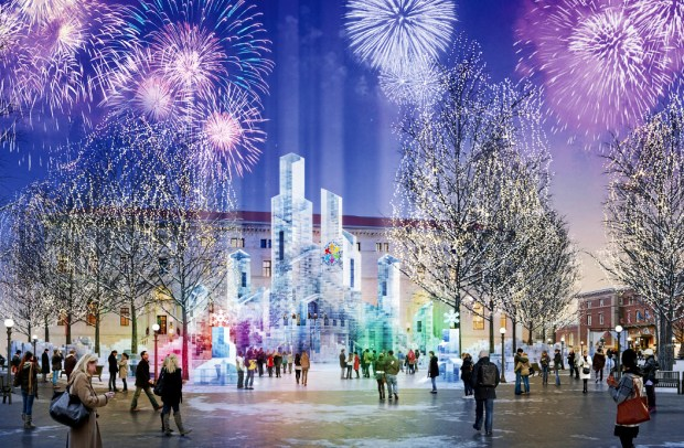 The design for an ice palace that will be built in St. Paul's Rice Park as part of the 2018 St. Paul Winter Carnival. (Courtesy of the St. Paul Winter Carnival)