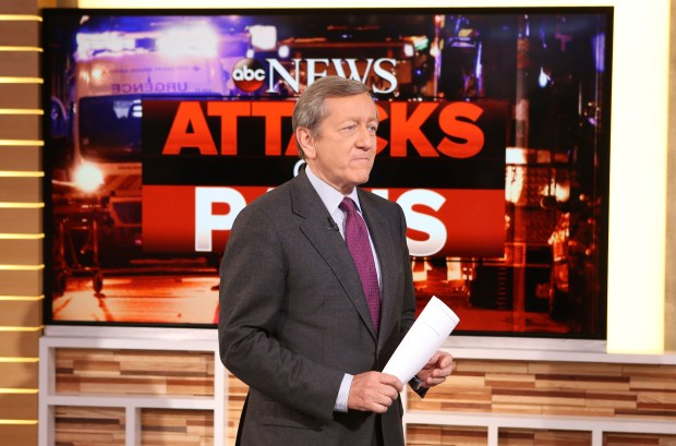 "In this Nov. 16, 2015, photo, provided by ABC, correspondent Brian Ross speaks on ""Good Morning America,"" which airs on the ABC Television Network, in New York. Ross will no longer cover stories involving President Donald Trump following his erroneous report last Friday, Dec. 1, 2017, on former national security adviser Michael Flynn. (Fred Lee/ABC via AP)"