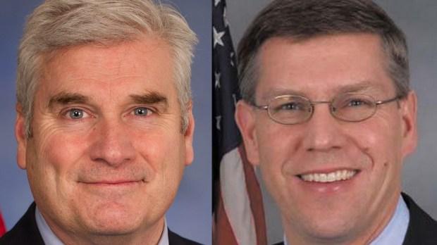 Minnesota Congressmen Tom Emmer, left, and Erik Paulsen