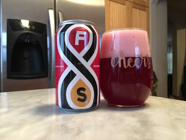 Raspberry Roselle from Fair State Brewing Cooperative is available for a limited time. Photo shot Dec. 20, 2017. (Jess Fleming / Pioneer Press)