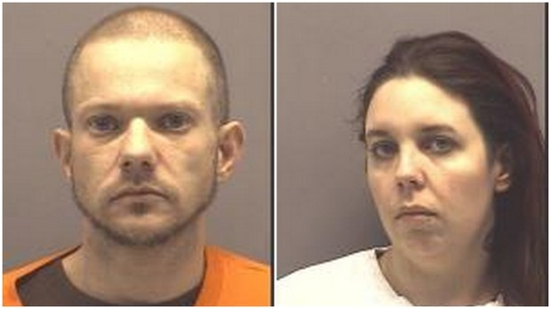 Michael Allen Chenoweth, 36, of Springfield, Minn., and Ashley Dawn Schultz, 29, of Marshall, Minn., were charged Thursday, Dec. 28, 2017, with burglarizing the home of the Yellow Medicine County sheriff. (Courtesy of the Yellow Medicine county sheriff's office)