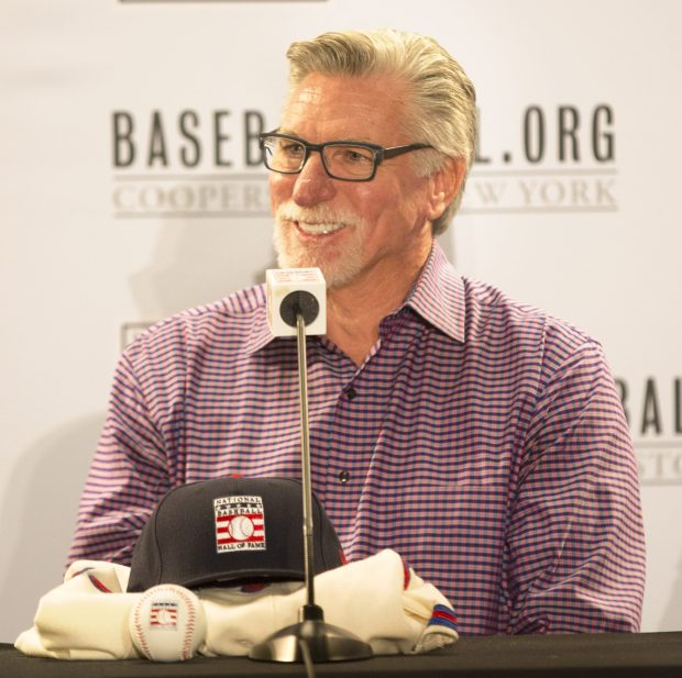 Newly elected Hall of Famer Jack Morris smiles during the press conference at the Major League Baseball winter meetings in Orlando, Fla., Monday, Dec. 11, 2017. (Willie J. Allen Jr. / Associated Press)