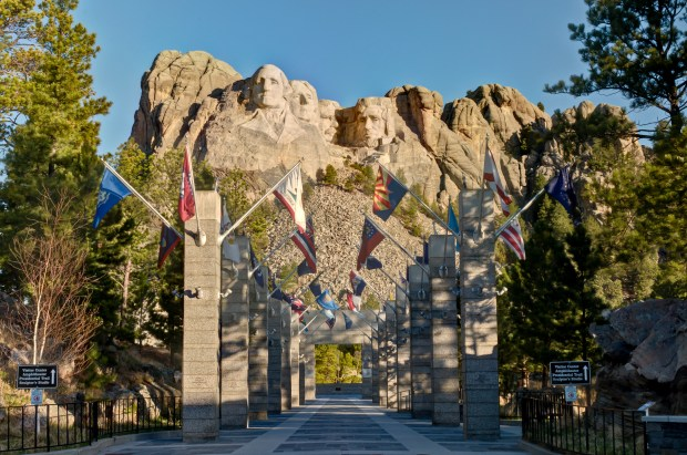 Mount Rushmore National Memorial in South Dakota. (Courtesy of South Dakota Department of Tourism)