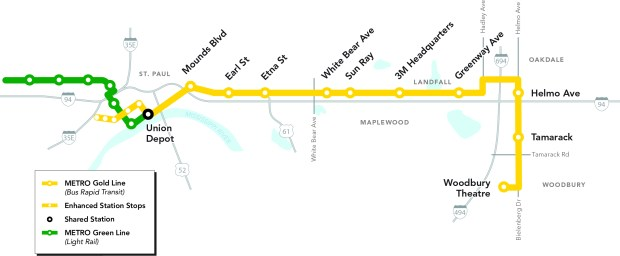 Wanted members for the gold line advisory board twin cities a map shows a proposed gold line bus rapid transit that would stop at nine stations publicscrutiny Gallery