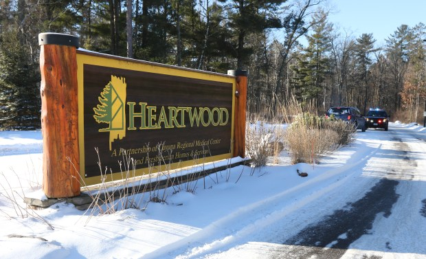 Heartwood Senior Living Community in Crosby, Minn., was the site of a law enforcement lockdown Saturday after an employee was reportedly stabbed by a relative. (Kelly Humphrey / Forum News Service)