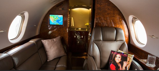 Interior of a Hawker 800XP. (Courtesy of East Coast Jets)
