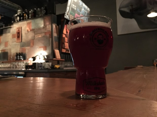 Boysenberry Milkshake IPA from Dangerous Man from 1/17/18. (Jess Fleming / Pioneer Press)