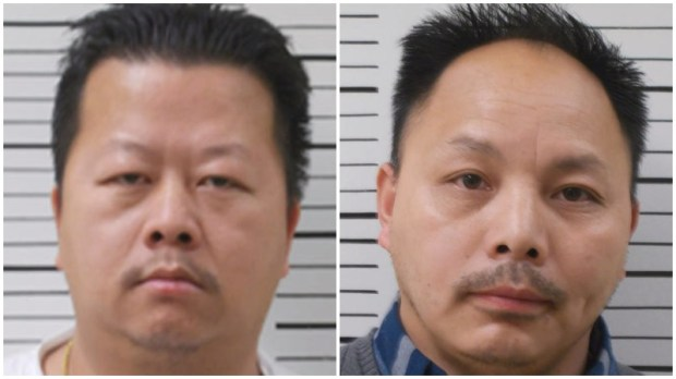 Nhia Lee, left, and Bee Thor. Lee, of St. Paul, was driving a pickup truck in North Dakota when police allegedly found 476 pounds of pot inside. Thor was a passenger in the vehicle and both men were arrested. (Courtesy photos via Forum News Service)