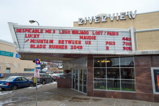 Riverview Theater boasts many of the same architectural features as it did when it opened in 1948. These days, it's a popular spot for watching previously released movies on the big screen for $3 or less Wednesday, December 13, 2017. (Special to the Pioneer Press: Craig Lassig)