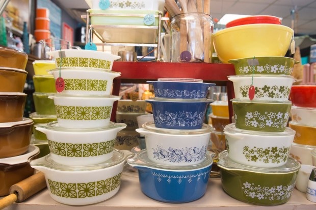 Turquoise Vintage is a shoppers haven for those that want quality, stylish, eye popping pieces. Standouts include the giant Pyrex collection that seems to go on and on in every size, shape and design Friday, December 15, 2017. (Special to the Pioneer Press: Craig Lassig)