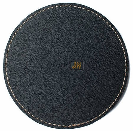 Pad & Quill's Leather HomePod Coaster is made in Mexico out of full-grain U.S. cowhide with a pigskin underside. (Pad & Quill)