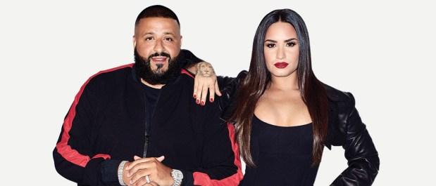 Demi Lovato, right, and DJ Khaled