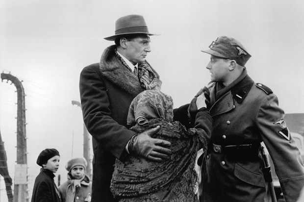 "Liam Neeson, left, and Olaf Lubaszenko in ""Schindler's List."" (Universal Pictures)"
