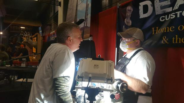 Brian Rubenstein, right, and Wade Erickson make their custom duck calls from scratch, selling them, among other places, at local trade shows. Submitted photo