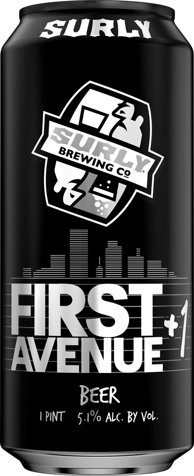 First Avenue collaborated with Surly Brewing Company to create the club's own beer, +1, which it debuts later this month. (Courtesy of First Avenue)