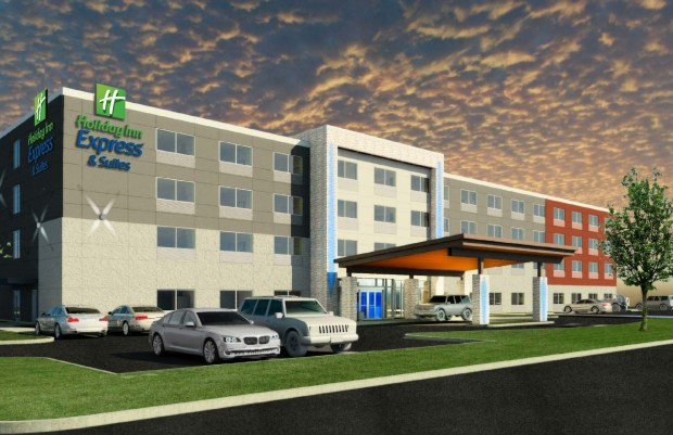 Madison Hospitality Group plans to build an $11 million Holiday Inn Express & Suites in Oak Park Heights, with groundbreaking in fall 2018 and a planned opening in summer 2019. The architect is Ramaker & Associates of Willmar, Minn. (Courtesy of Madison Hospitality Group)