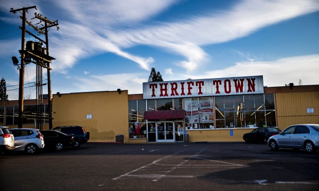"Thrift Town, featured in the film, ""Lady Bird,"" photographed on Dec. 18, 2017, in Sacramento, Calif. (Kent Nishimura/Los Angeles Times/TNS)"
