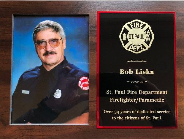 St. Paul firefighter Bob Liska, who died in December 2017 at 83, will have a legacy plaque dedicated Saturday, April 14, 2018, at Fire Station No. 4 on Payne Avenue near East Seventh Street, where he worked. (Courtesy of the St. Paul Fire Foundation)