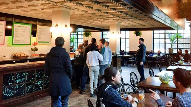Spring Cafe at Como Lakeside Pavilion in St. Paul. Photographed April 12, 2018. (Kathy Berdan / Pioneer Press)
