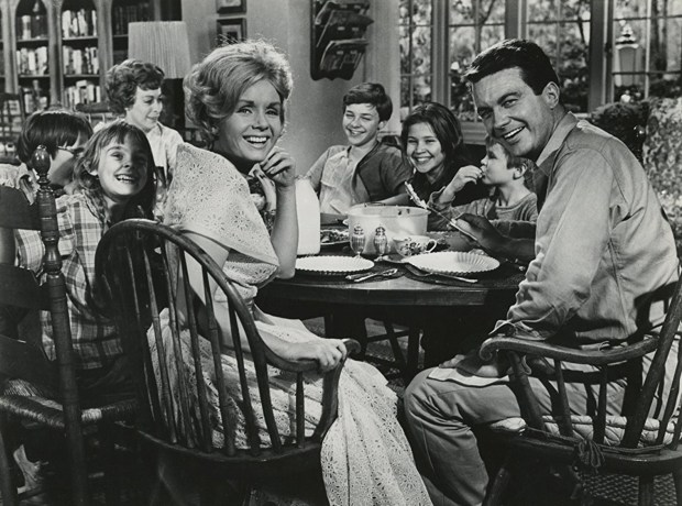 "Debbie Reynolds, Cliff Robertson and the gang in ""My Six Loves."" (Paramount Pictures)"