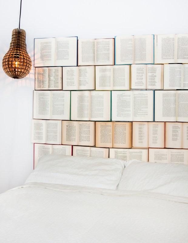 Kassandra Utzinger, a Vancouver graphic designer, has pioneered the trend of book headboards. (Kassandra Utzinger)
