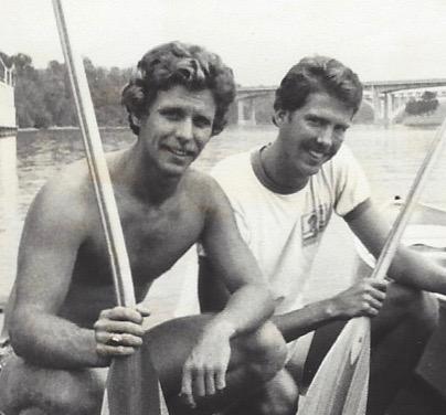 Steve Eckelkamp and Kirk Millhone in 1980 on their first world record trip down the Mississippi. (Courtesy Kirk Millhone)