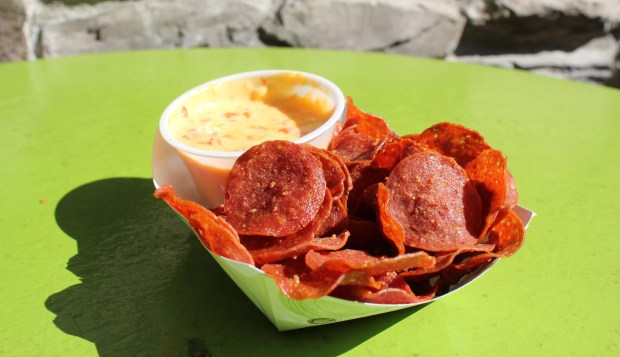 Pepperoni Chips with Roasted Red Pepper Queso at LuLu's Public House (Courtesy of the Minnesota State Fair)