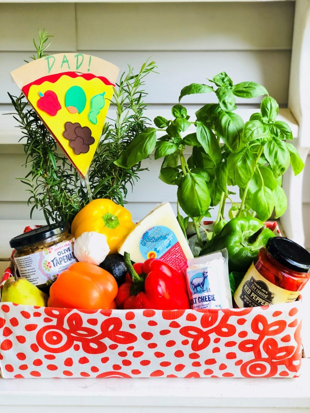 """A Father's Day """"do-together"""" box. (Courtesy of Donna Erickson)"""